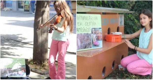 Sokakta keman çalarak 11 yaşındaki Tuana 'nın yaptıklarını okuyabilirsiniz.