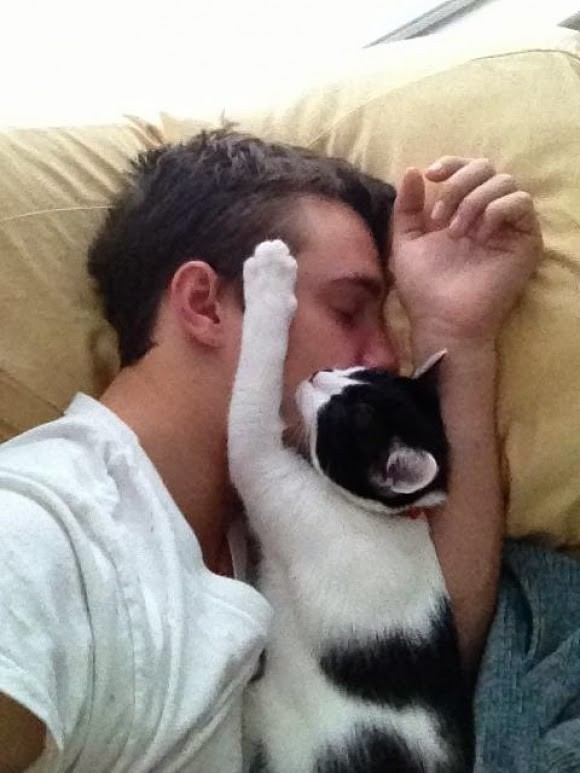 Uyumak güzel olduğu kadar uyanmak da güzel olmalıdır, çünkü yüzünde bi patiyle güzel uyanırsın