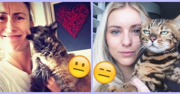 Çektiğimiz selfilerde olmak istemeyen kedileri görmek için ileri butonuna basınız.