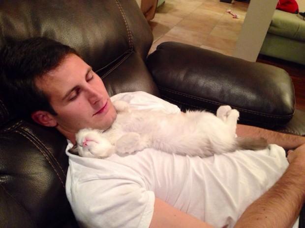 5. Evini kediyle paylaşmak istemeyen bir adamın dönüşümü. Emin misin acaba?
